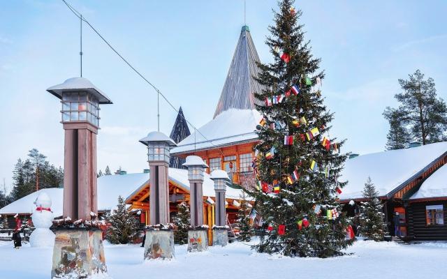 Arctic Circle lanterns at Santa Office in Santa Village Lapland